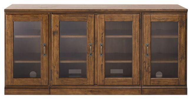 Printer's Glass Cabinet Media Stand