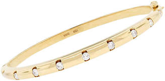 One Kings Lane Vintage Yellow Gold 0.55ctw Diamond Bangle