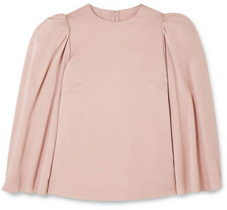 Valentino Cape-effect Crepe Blouse - Blush