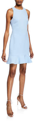 LIKELY Beckett Ruffle-Hem Mini Dress