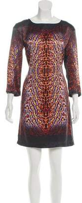 Just Cavalli Printed Shift Mini Dress