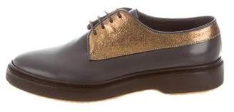 Brunello Cucinelli Leather Lace-Up Oxfords w/ Tags
