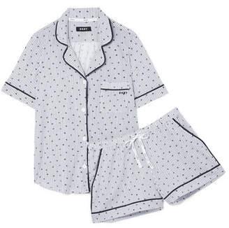 DKNY Printed Cotton-blend Jersey Pajama Set - Blue