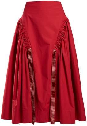 Fendi Ruched cotton skirt