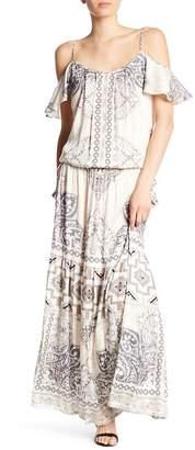 Hale Bob Cold Shoulder Maxi Dress