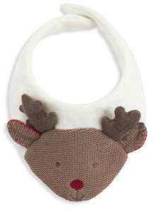 Elegant Baby Reindeer Cotton Bib
