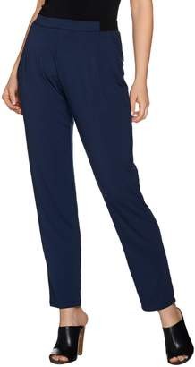 Halston H By H by Pull-On Knit Ankle Pants with Pockets