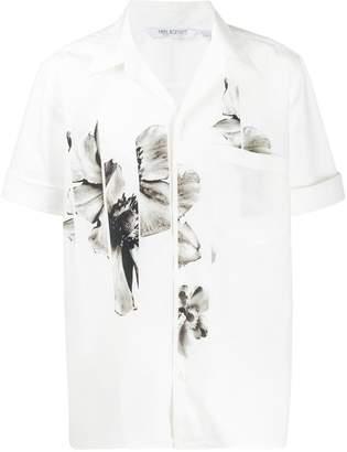 Neil Barrett floral panel shirt