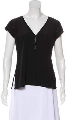 Calypso Embellished Silk Top