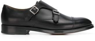 Doucal's double buckle monk shoes
