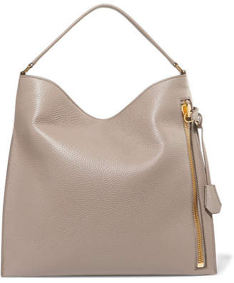 Tom Ford Alix Large Textured-leather Tote - Taupe