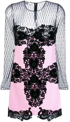 Fausto Puglisi lace embroidered long-sleeve dress