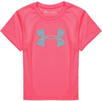 Under Armour Glitter Big Logo Short-Sleeve Top - Girls'