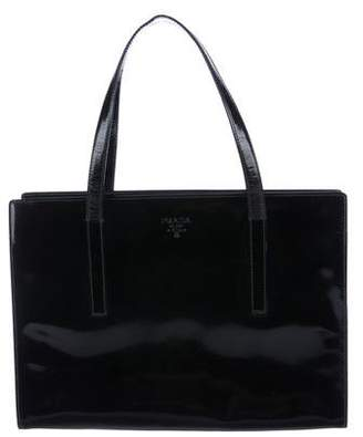 Prada Vernice Leather Tote