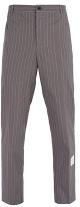 Thom Browne Pinstripe Cotton Trousers - Mens - Grey