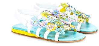 Mi Mi Sol floral applique sandals