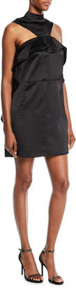 Self-Portrait Self Portrait Draped Satin Frill Mini Dress