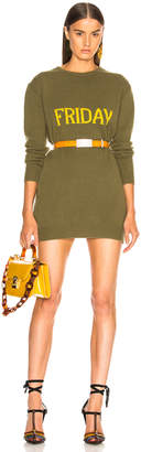 Alberta Ferretti Friday Crewneck Sweater Dress