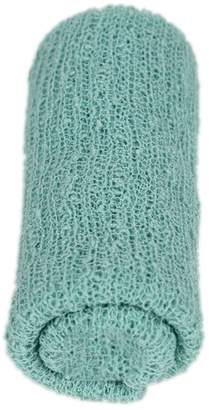 Generic Newborn Baby Photography Photo Props Stretch Wrap Knit Baby Swaddle Wrap Blanket - Mint Green