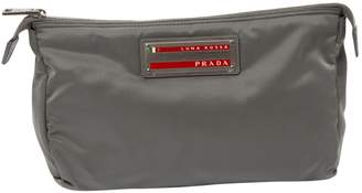 Prada Vintage Grey Cloth Clutch Bag