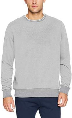 Ben Sherman Men's Tipped Honey Pique Sweat Jumper, (Grey 250), Large