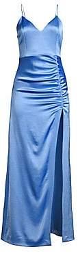 Alice + Olivia Women's Diana V-Neck High Slit Midi Dress