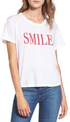 Sundry Smile Boxy Cotton Tee