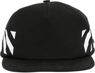Off-White Printed Cotton Canvas Baseball Hat