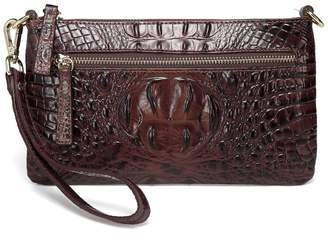 Vicenzo Leather Daci Croc Embossed Leather Crossbody/Clutch