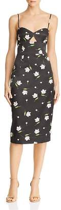 Milly Uma Cutout Sweetheart Midi Dress