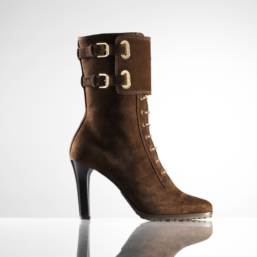 Ralph Lauren Black Label Athena Suede Boot