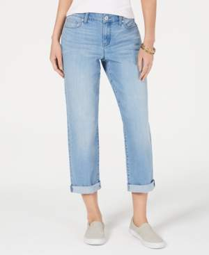 Style&Co. Style & Co Petite Curvy-Fit Boyfriend Ankle Jeans, Created for Macy's