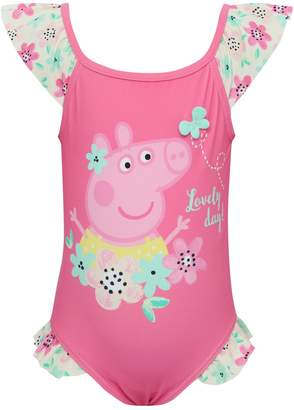 M&Co Peppa Pig frill swimsuit