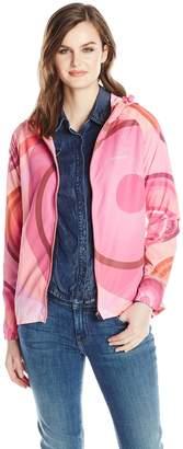 Desigual Women's Sweat Jacket With Monochromatic Shaded Galactic Circles
