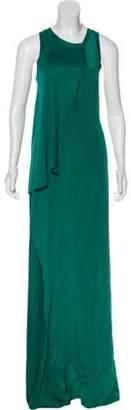 Calvin Klein Collection Silk Maxi Dress Green Silk Maxi Dress