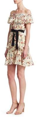 Maje Rinora Off-The-Shoulder A-Line Dress
