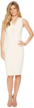 Calvin Klein Circle Neck Trim Sheath CD8C16HL Women's Dress