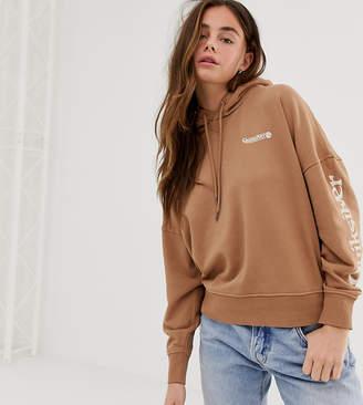 Quiksilver Boxy Fleece hoodie in brown