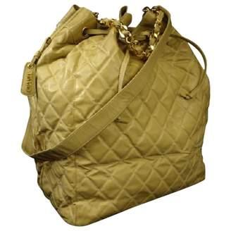 Chanel Vintage Yellow Leather Handbag