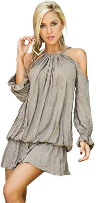 Am.pm. Mapalé By Am:Pm Mapale by AM:PM Women's Romantic Draped Billow Mini Dress