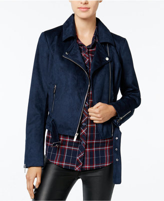 Wildflower Faux-Suede Moto Jacket, Only at Macy's $119 thestylecure.com