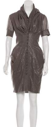 AllSaints Draped Mini Dress