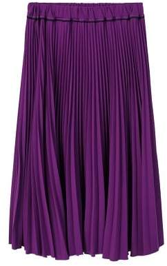 Violeta BY MANGO Pleated midi skirt