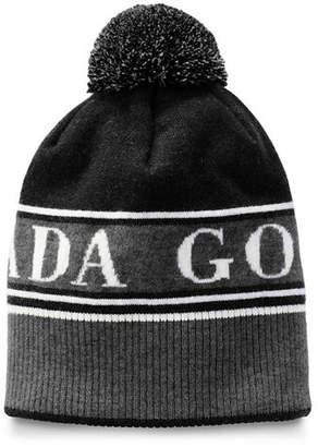 Canada Goose Men's Logo Toque Beanie Hat w/ Pompom