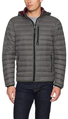 Free Country Men's Hooded Packable Down Jacket