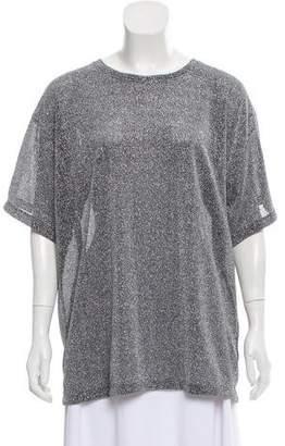 MM6 MAISON MARGIELA Metallic Accent T-Shirt