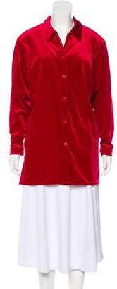 Diane von Furstenberg Long Sleeve Button-Up Blouse