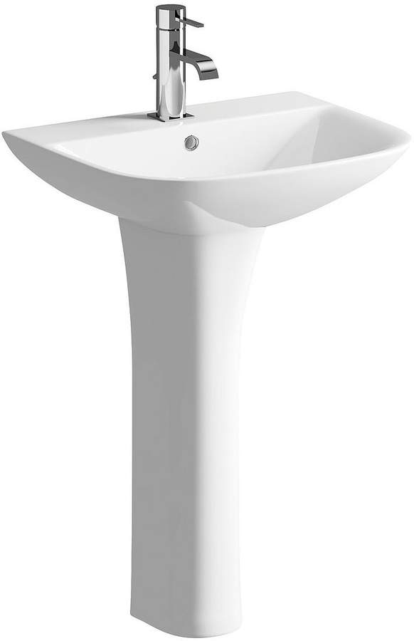 Serenity 550 Mm 1 Tap Hole Bathroom Basin With Pedestal