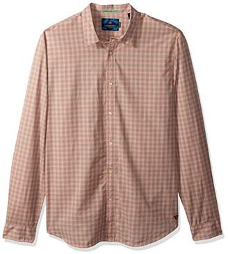 Scotch & Soda Men's Longsleeve Shirt in Lightweight Crinkled Cotton Quality