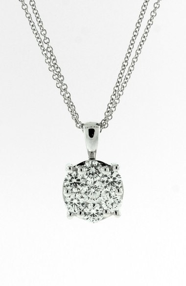 Nordstrom Bony Levy 'Lucky 7' Diamond Pendant Necklace Exclusive)